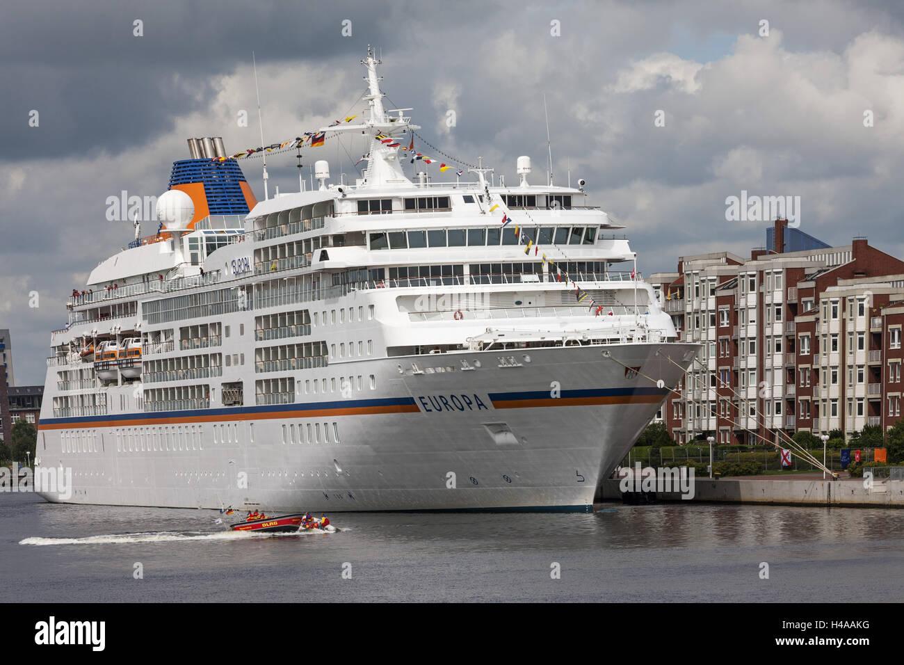Luxurycruise Ship MS EUROPE In The Quay Bonte