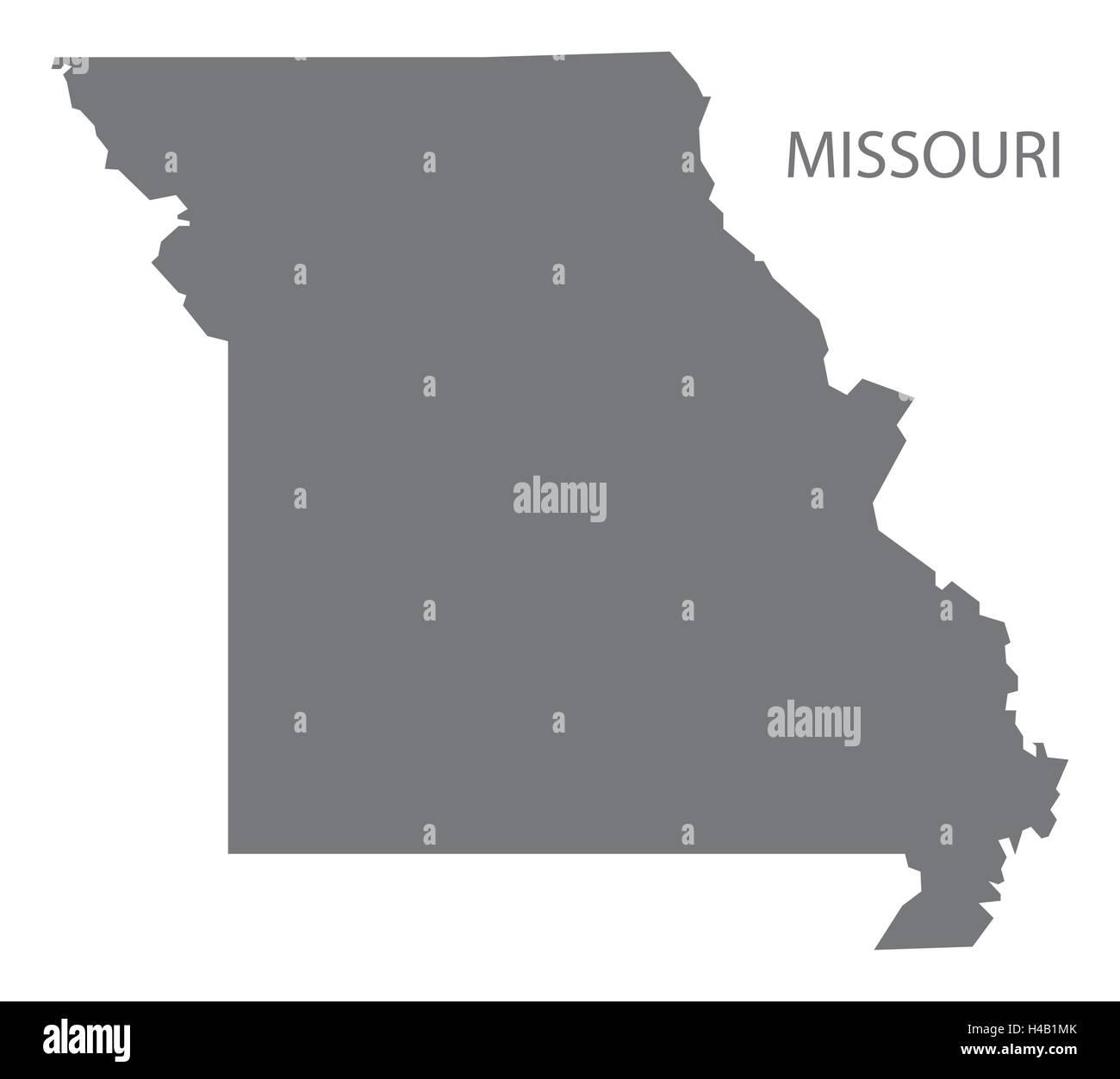 Usa Map Highlighting State Of Missouri Vector Stock Vector Art - Missouri usa map