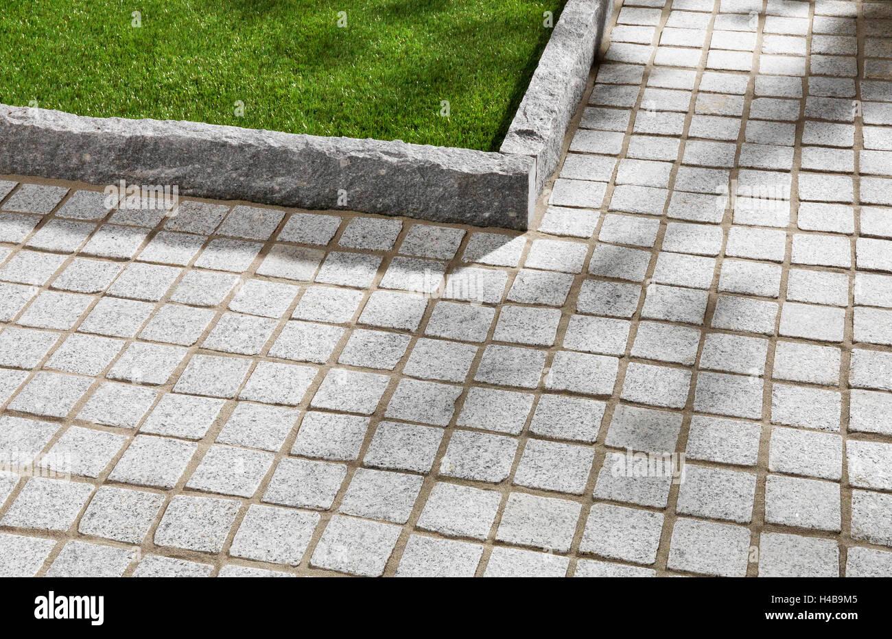 Garden, Sidewalk, Paving Stones, Lawn Edges