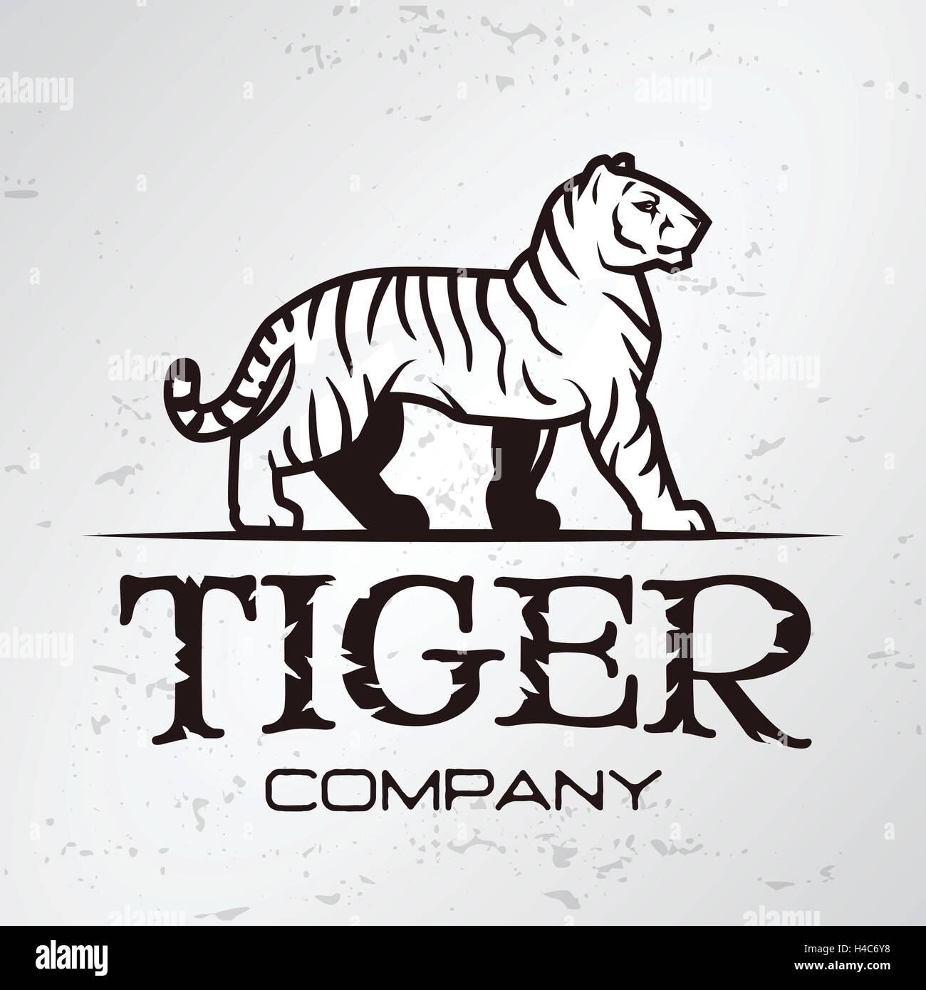 Tiger logo emblem template brand mascot symbol for business or tiger logo emblem template brand mascot symbol for business or shirt vector vintage design element biocorpaavc