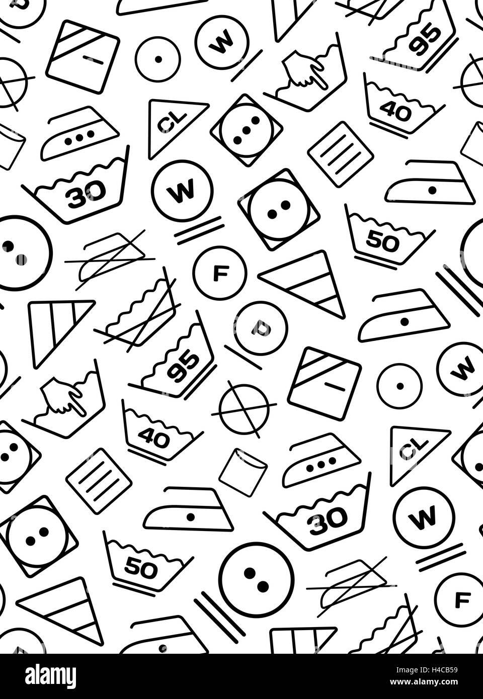 Pattern created from laundry washing symbols on a white background pattern created from laundry washing symbols on a white background biocorpaavc