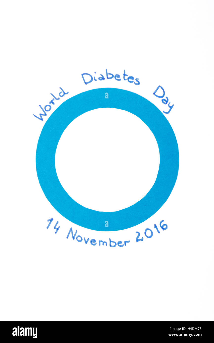 Blue circle of paper symbol of world diabetes day on white stock blue circle of paper symbol of world diabetes day on white background biocorpaavc