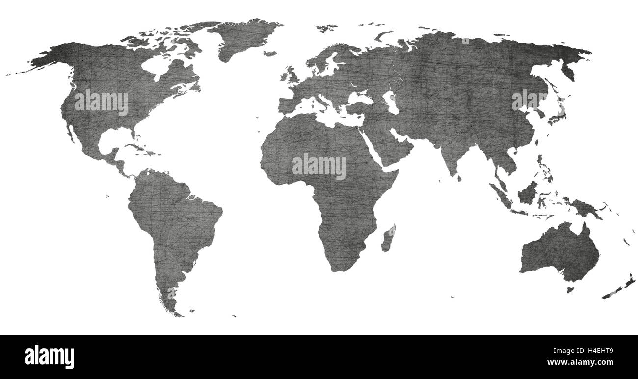 Vintage world map black and white on old texture stock photo vintage world map black and white on old texture gumiabroncs Choice Image