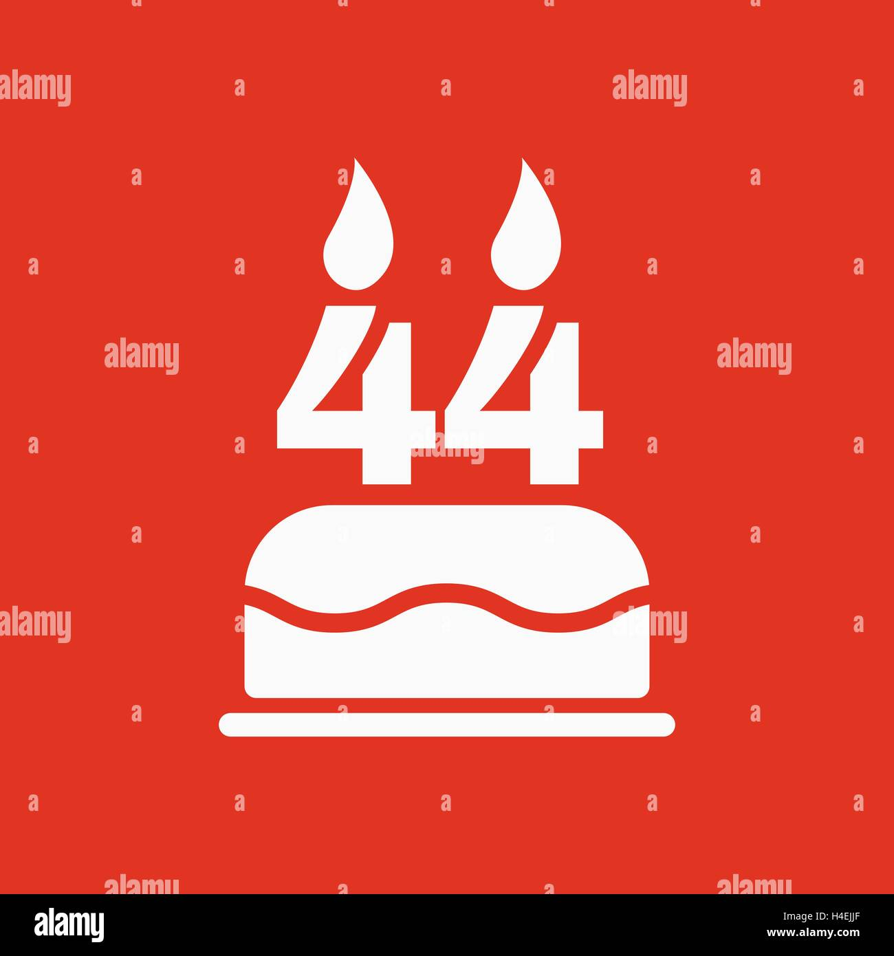 The birthday cake with candles in the form of number 44 icon stock the birthday cake with candles in the form of number 44 icon birthday symbol flat buycottarizona
