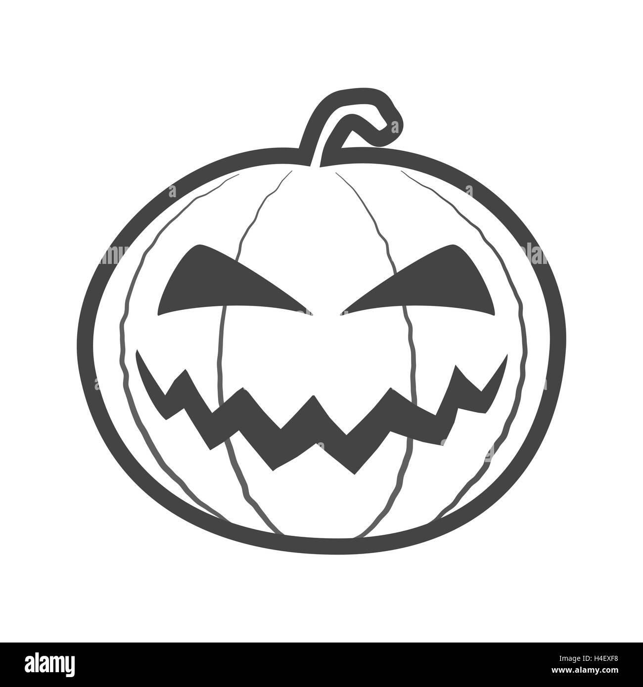 halloween pumpkin outline thin icon - Halloween Pumpkin Outline