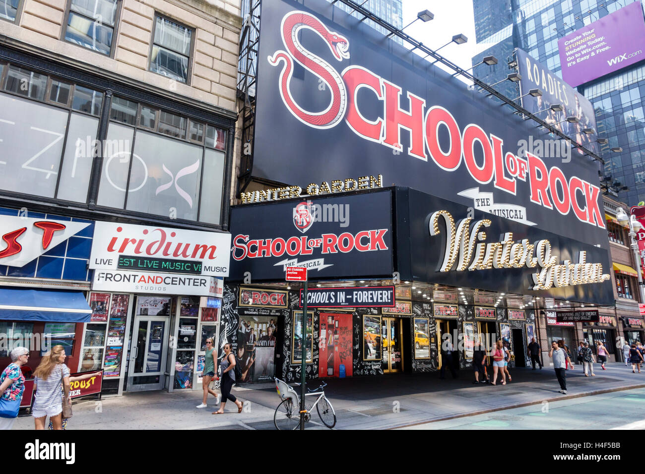 Manhattan New York City Nyc Ny Midtown Broadway Theater District Stock Photo Royalty Free Image