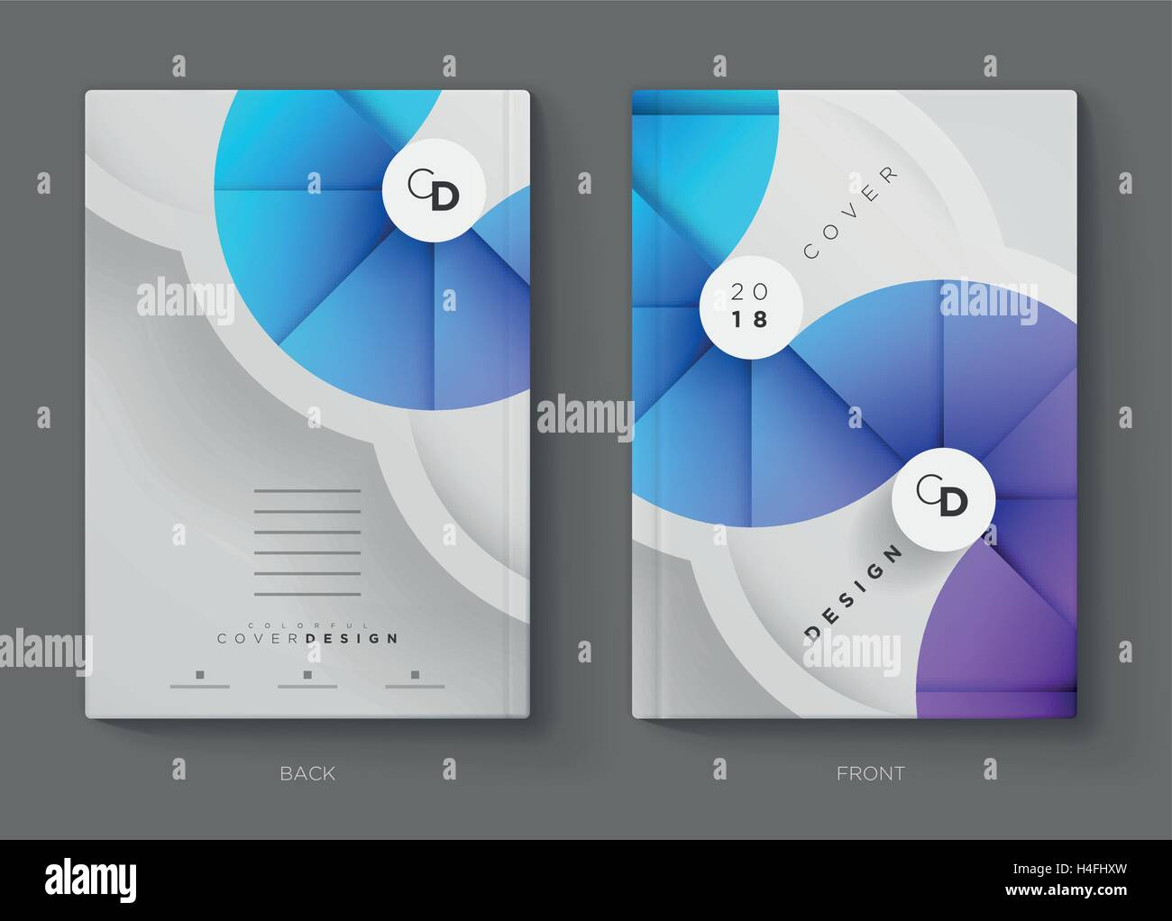 Vector Annual Report Brochure Flyer Or Booklet Cover Design - Brochure booklet templates