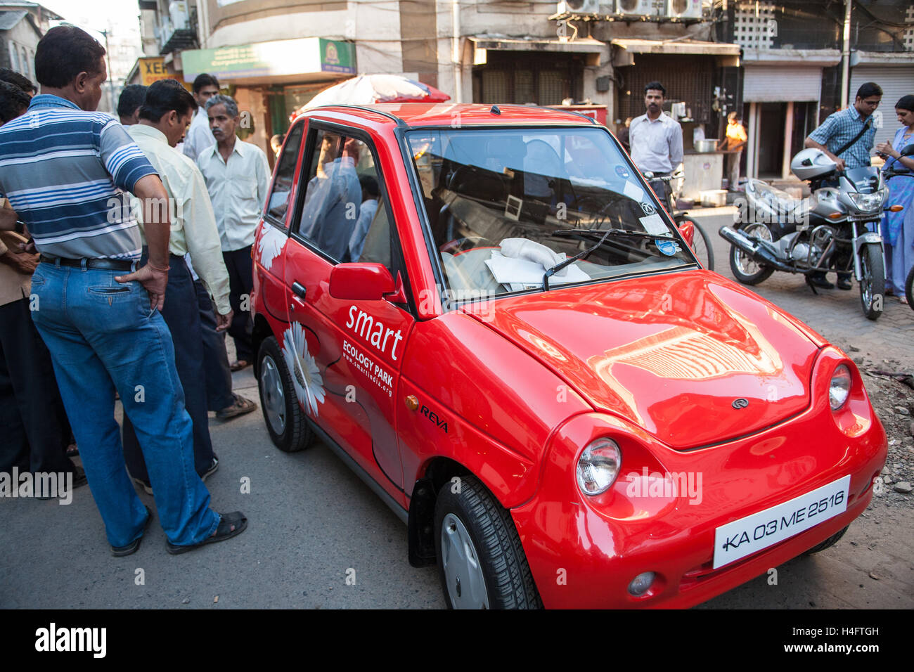 G Wiz A Small Micro Electric Car Parked Sideways In Great