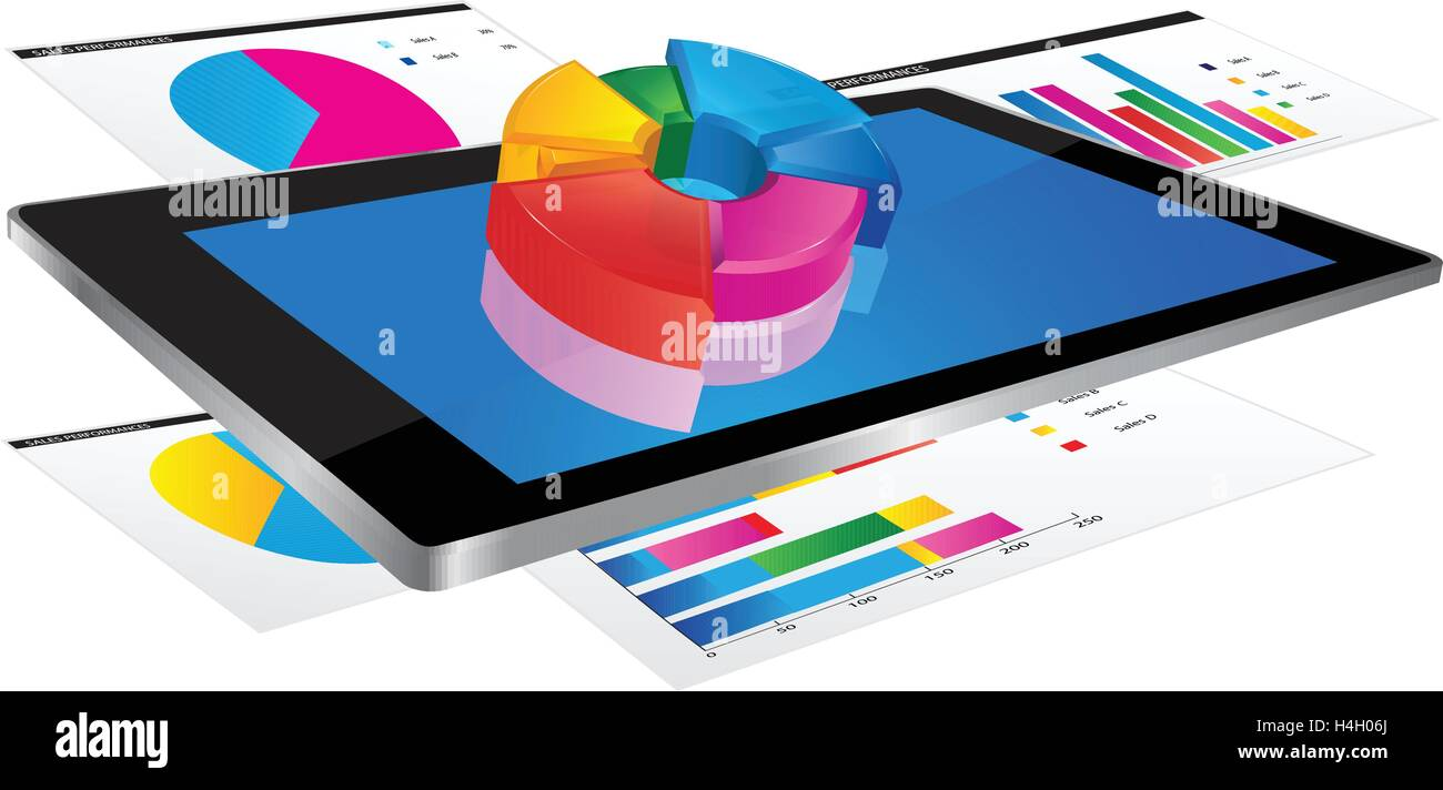 Tablet screen with 3d pie chart and a paper with statistic charts tablet screen with 3d pie chart and a paper with statistic charts nvjuhfo Choice Image