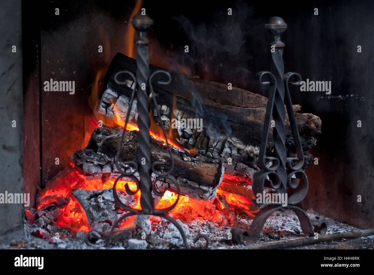 fire in a fireplace stock photo royalty free image 123311319 alamy
