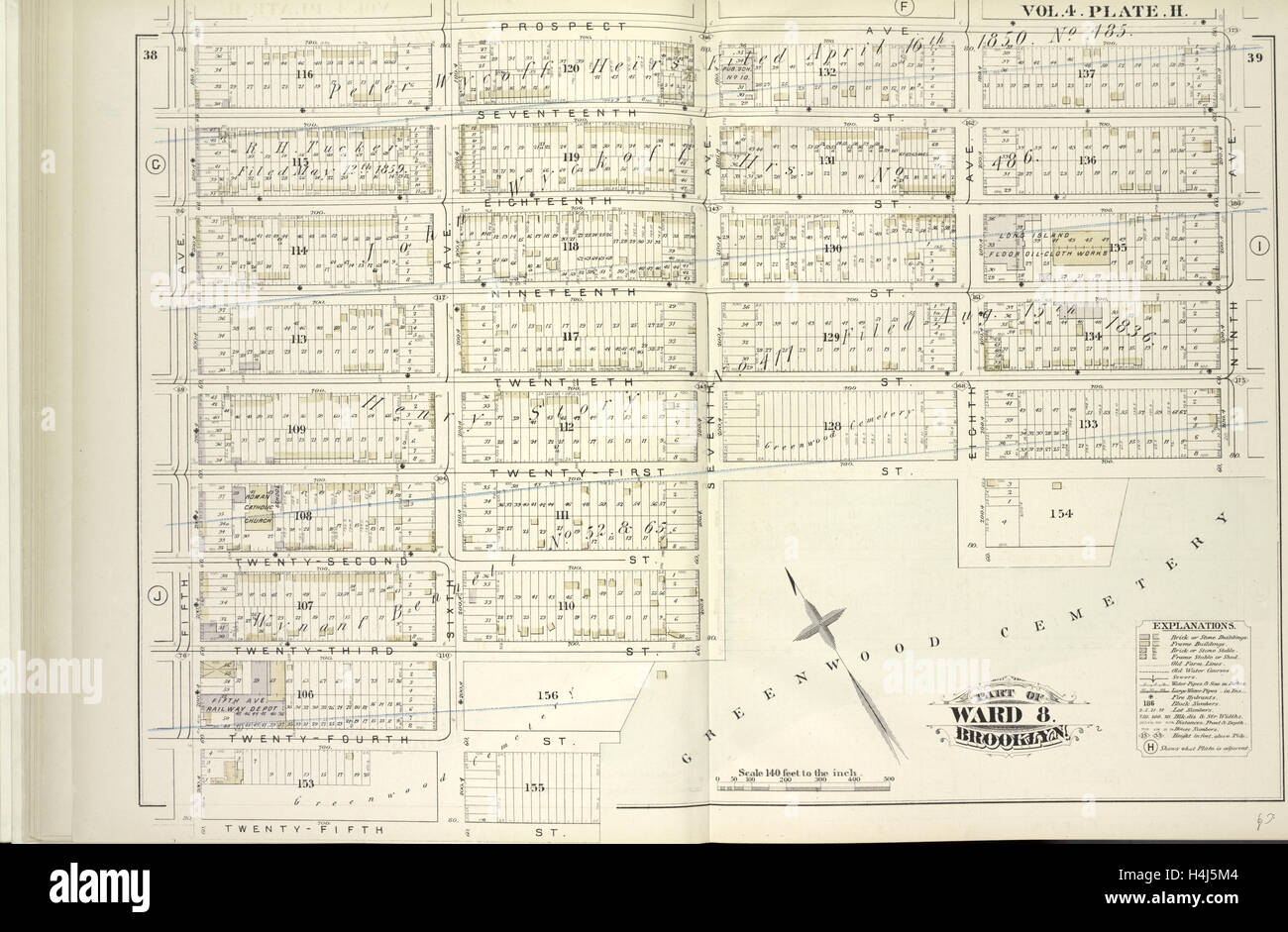 vol  plate h map bound by prospect ave ninth ave  - plate h map bound by prospect ave ninth ave greenwood cemeterytwentyfifth st fifth ave