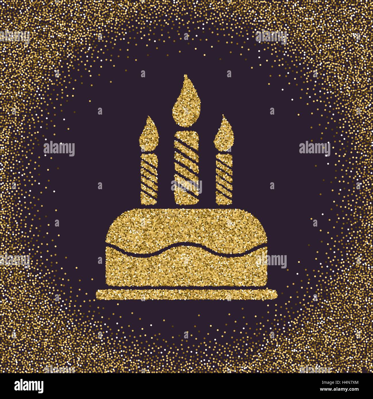 The birthday cake with candles dessert symbol gold sparkles and the birthday cake with candles dessert symbol gold sparkles and glitter buycottarizona