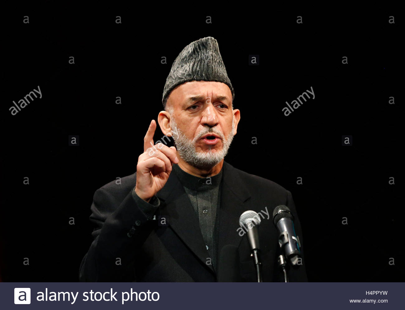 afghan president hamid karzai speaks during the opening of the established by the bayat foundation a charitable organization established and directed by entrepreneur ehsan