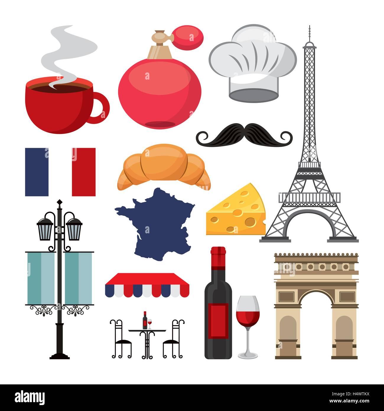 French Icons Symbols