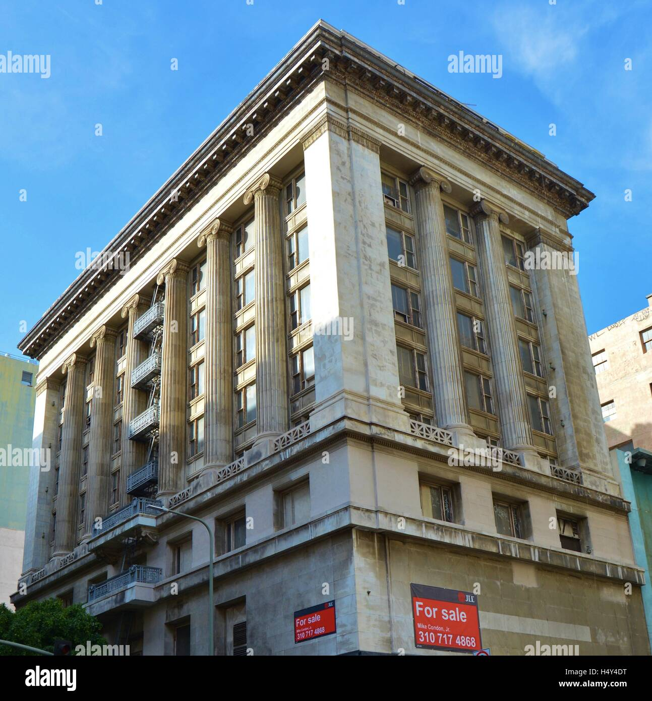 Large tall worn 1920 39 s art deco office building for sale for Art deco building materials