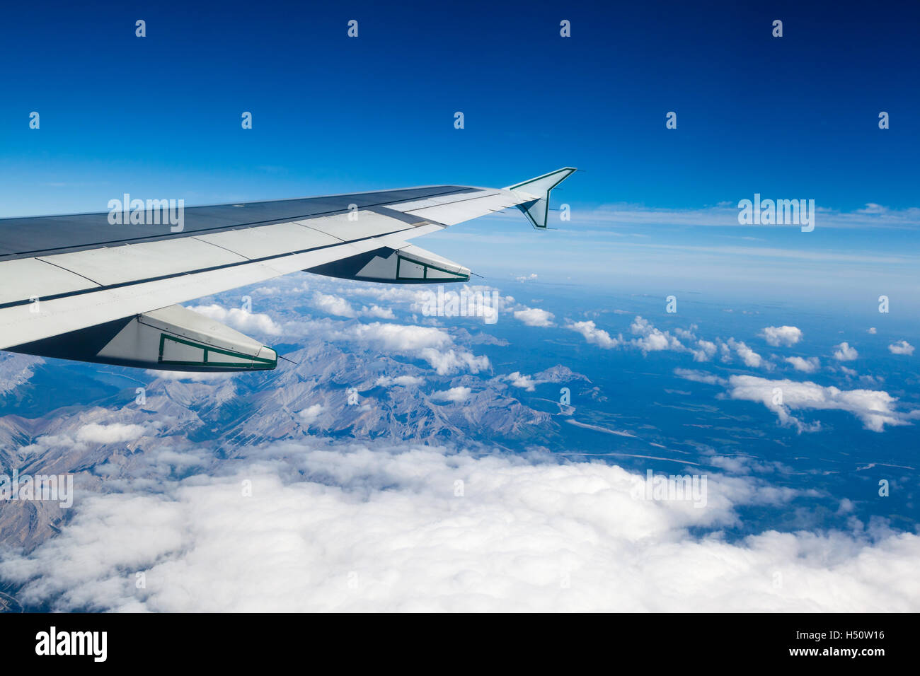 plane clouds and mountains - photo #12
