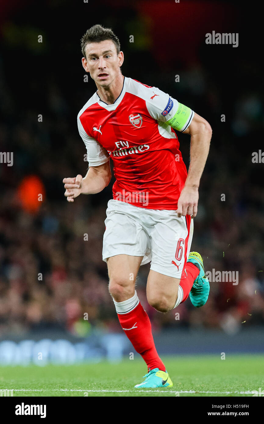London UK 19th Oct 2016 Laurent Koscielny Arsenal Stock