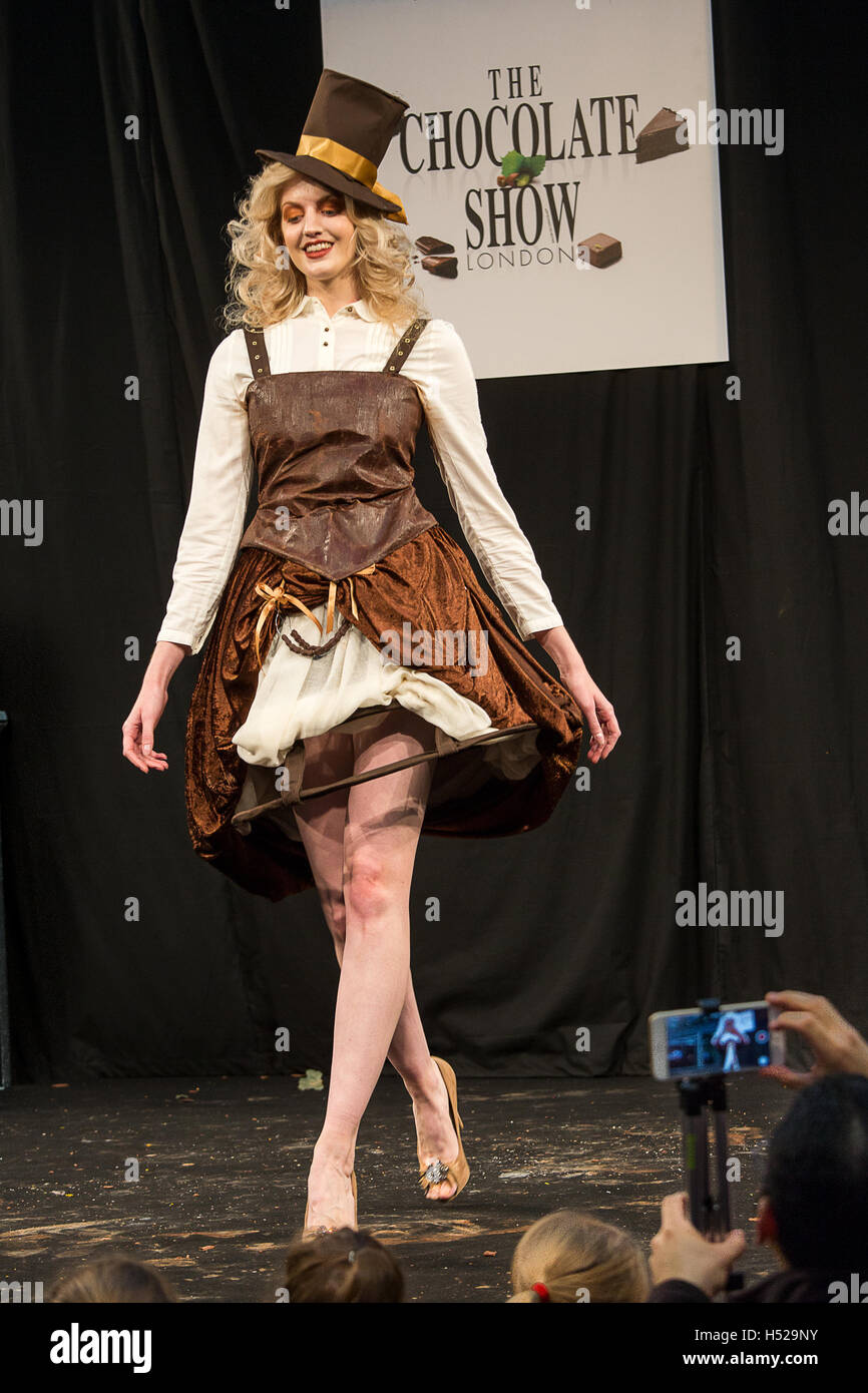 The Chocolate Fashion show is part of tee Chocolate Show held at ...