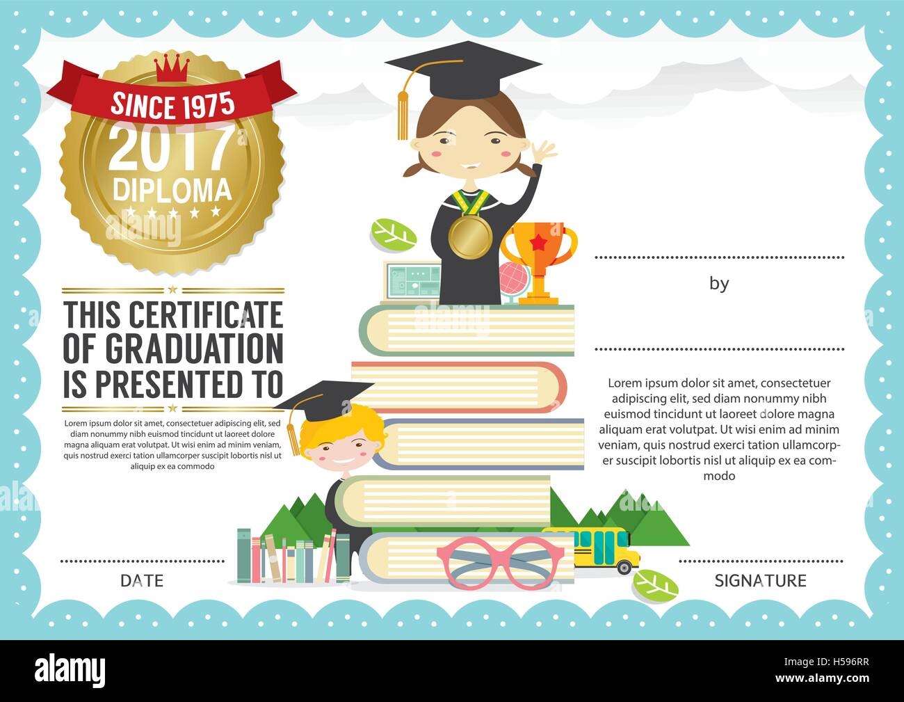 Preschool elementary school kids diploma certificate background preschool elementary school kids diploma certificate background design template xflitez Images