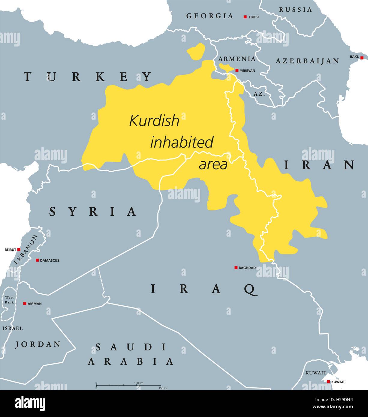 Kurdish inhabited area political map kurdish lands also kurdish inhabited area political map kurdish lands also kurdistan cultural region wherein gumiabroncs Choice Image