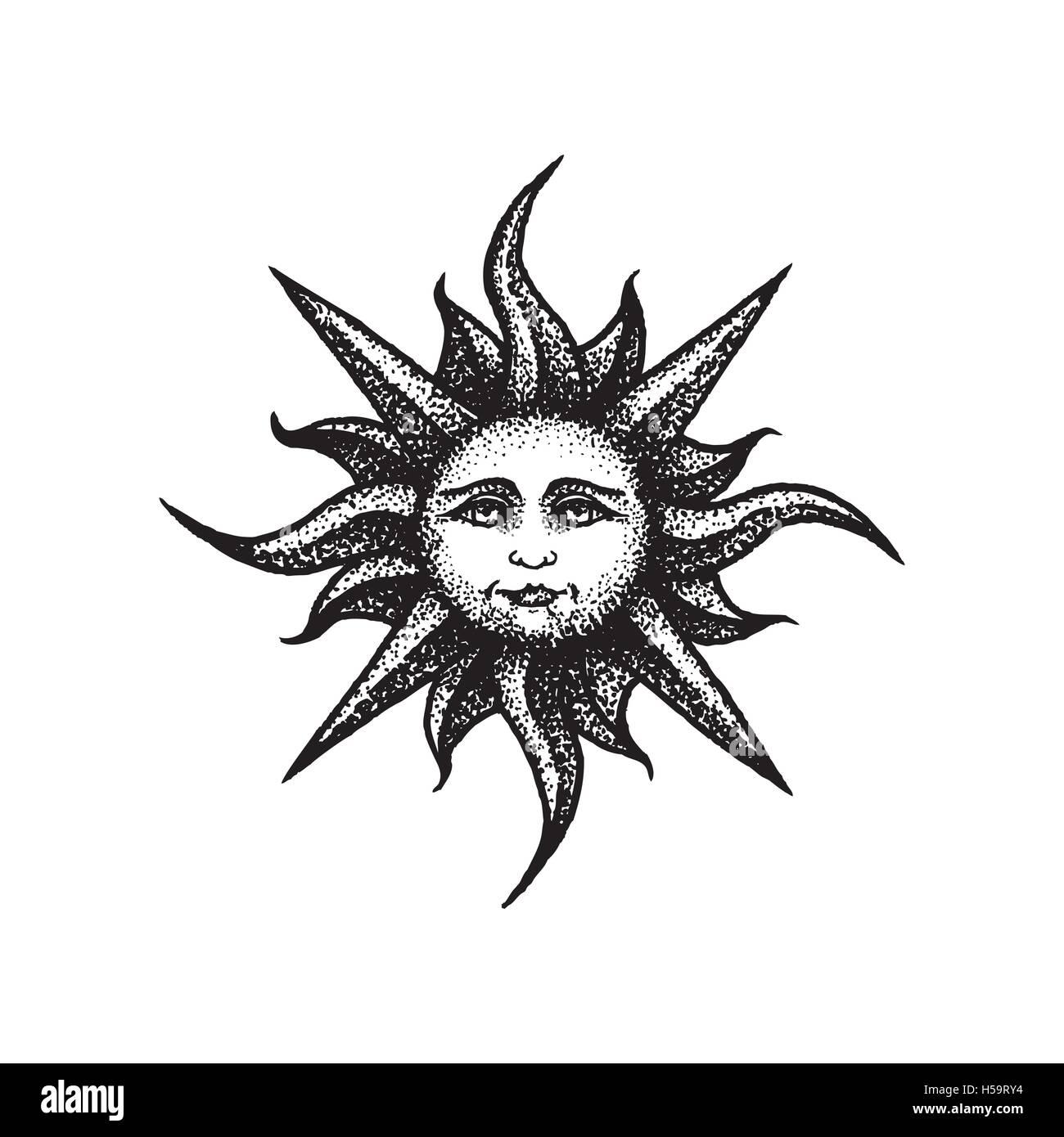vector black work tattoo dot art hand drawn engraving