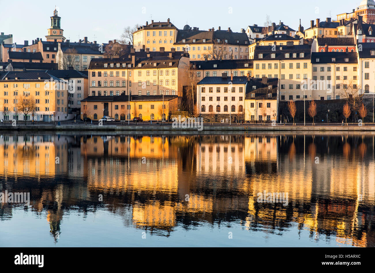Beautiful Reflection Of The Houses On Sodermalm Island In