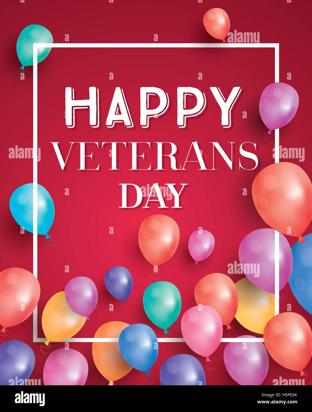 Happy veterans day greeting card with flying balloons vector stock happy veterans day greeting card with flying balloons vector illustration m4hsunfo Image collections
