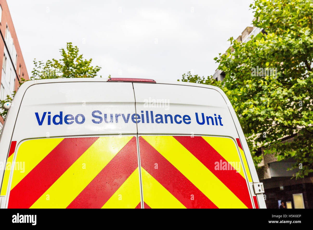 Video Surveillance Unit Van Security Spying Surveying Vehicle Back - Car sign and name