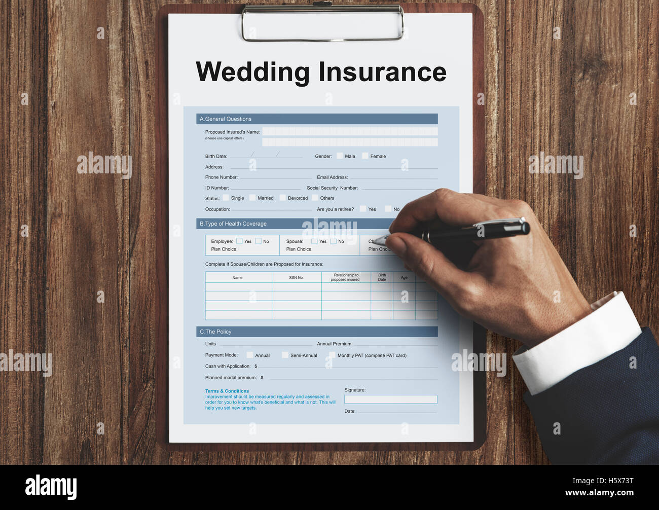 wedding insurance marriage form concept stock photo, royalty free Wedding Insurance Premium stock photo wedding insurance marriage form concept wedding insurance premium