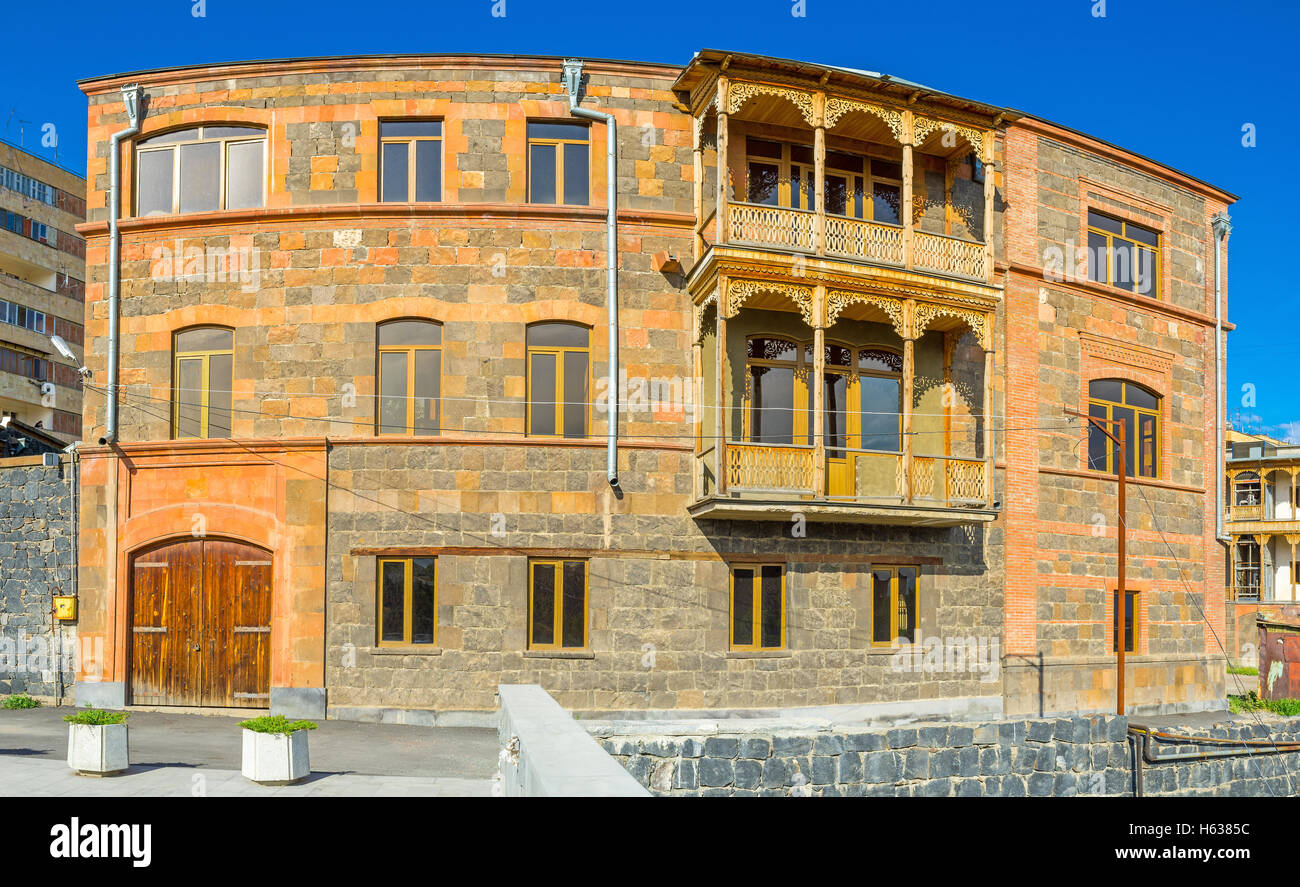 The fine example of traditional Armenian architecture ...