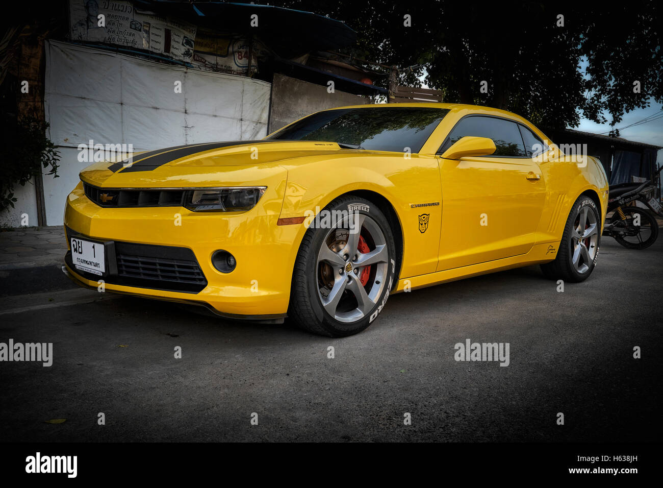 Chevrolet Camaro Zli 2017 Anniversary Model Stock Photo
