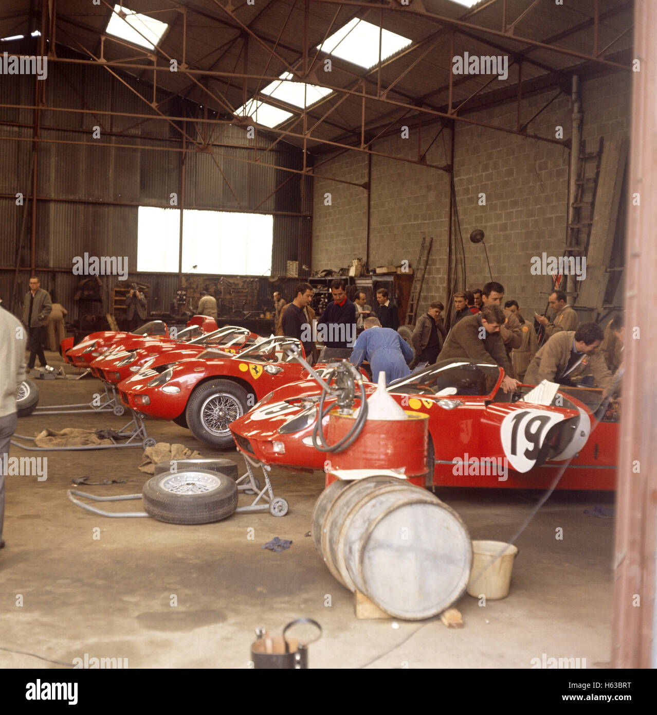 1963 ferrari 250ps le mans garage stock photo royalty for Garage automobile le mans