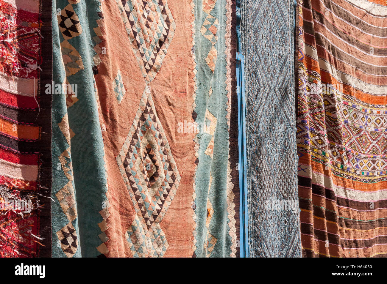 Hanging Rugs Hanging Rugs On Sale In Tunisia Stock Photo Royalty Free Image