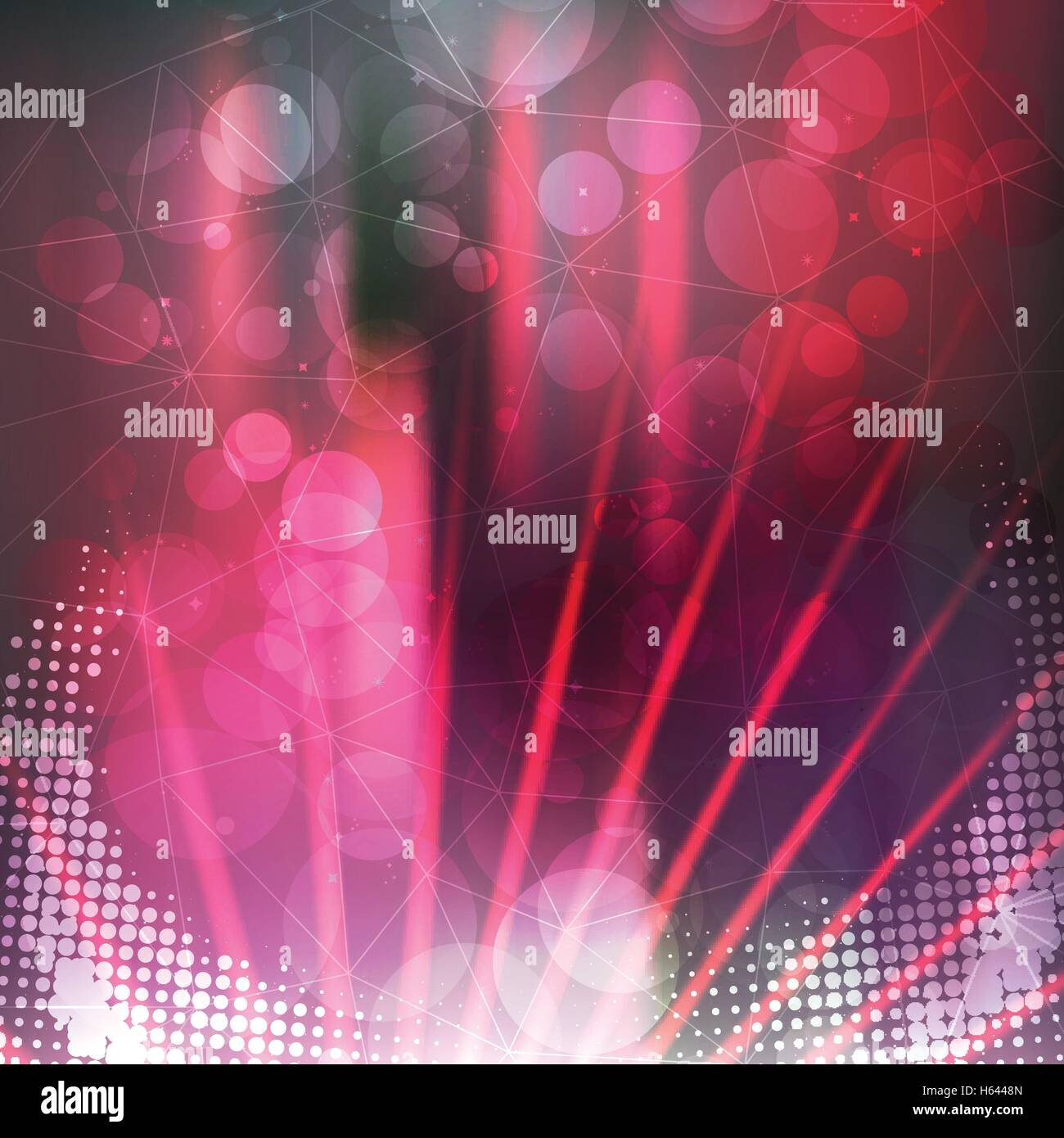 Disco Party Poster Background Template - Vector Illustration Stock ...