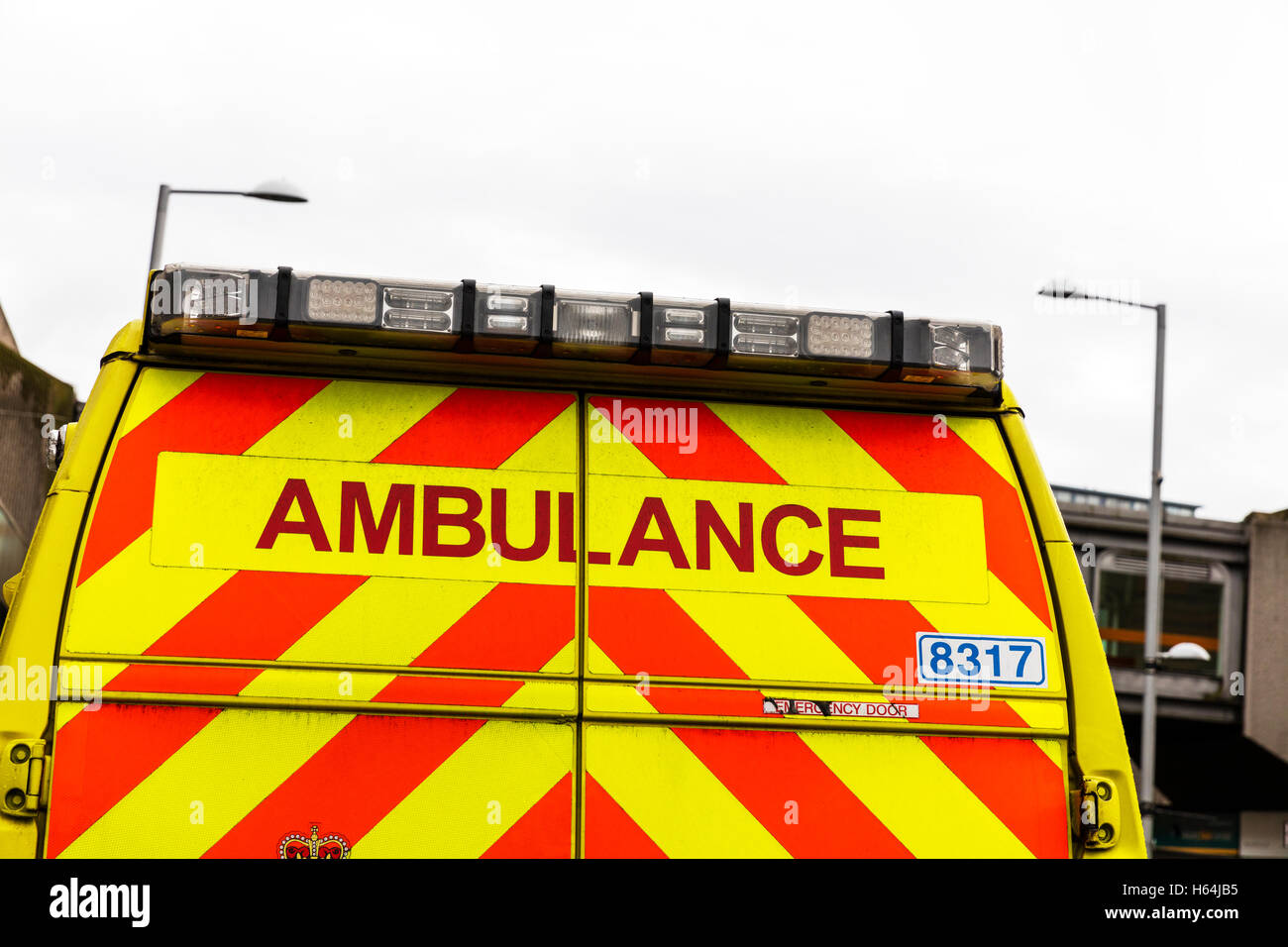 Ambulance van vehicle rear back doors vehicles sign name for Another word for back