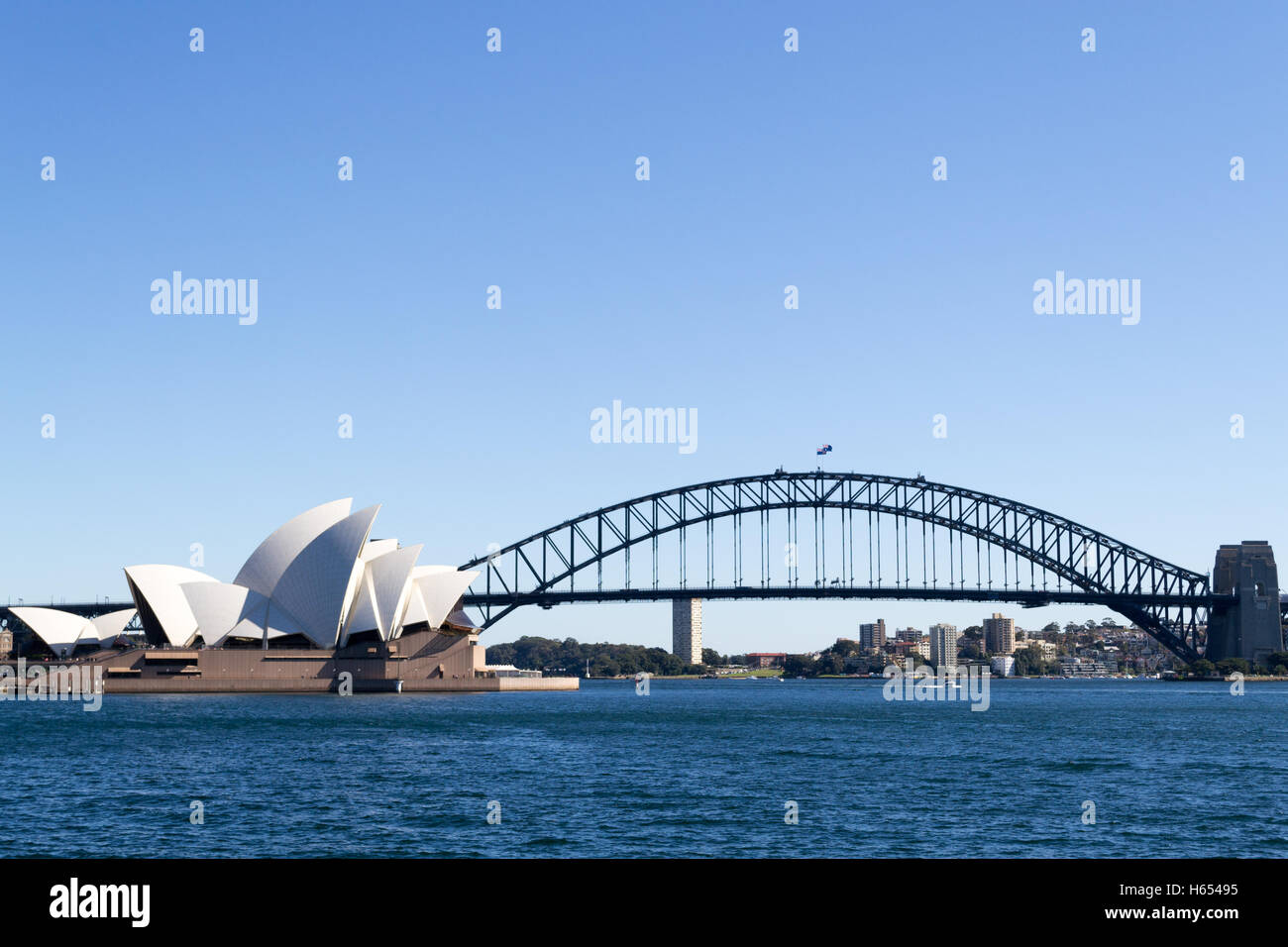 Sydney opera house and harbour bridge - Stock Photo Sydney Opera House And Harbor Bridge Are The Most Iconic Monuments In Sydeny