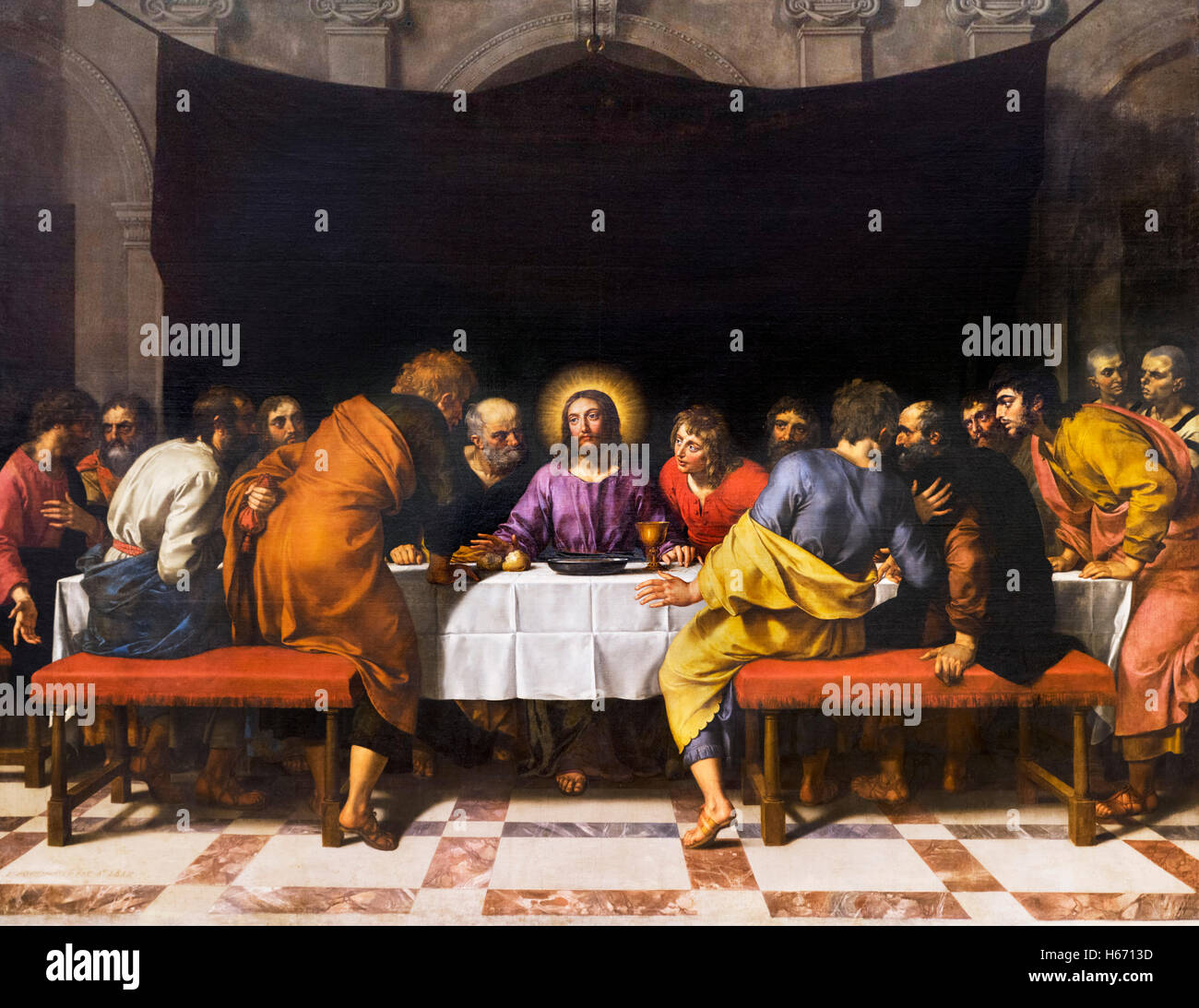 the last supper of jesus christ with his disciples by frans