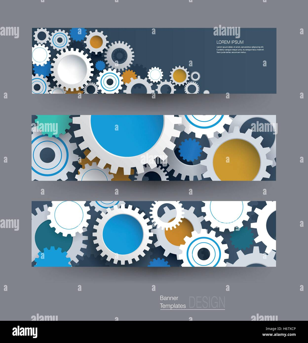 Engineer business card template gear stock photos engineer vector abstract gear wheel banners set high tech technology and engineering background machine magicingreecefo Image collections