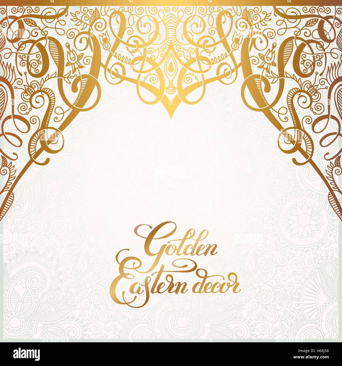 Stock Vector   floral golden eastern decor with place for your text   paisley pa. floral golden eastern decor with place for your text  paisley pa
