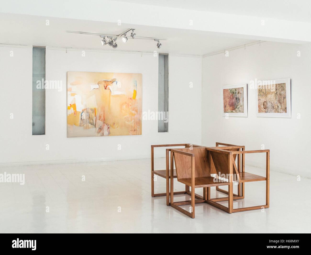 colombo sri lanka june 10th 2016 saskia fernando art gallery in