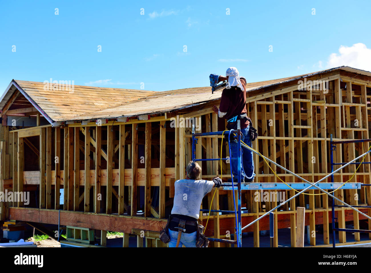 Timber frame house construction fort myers florida usa for Wood frame house in florida