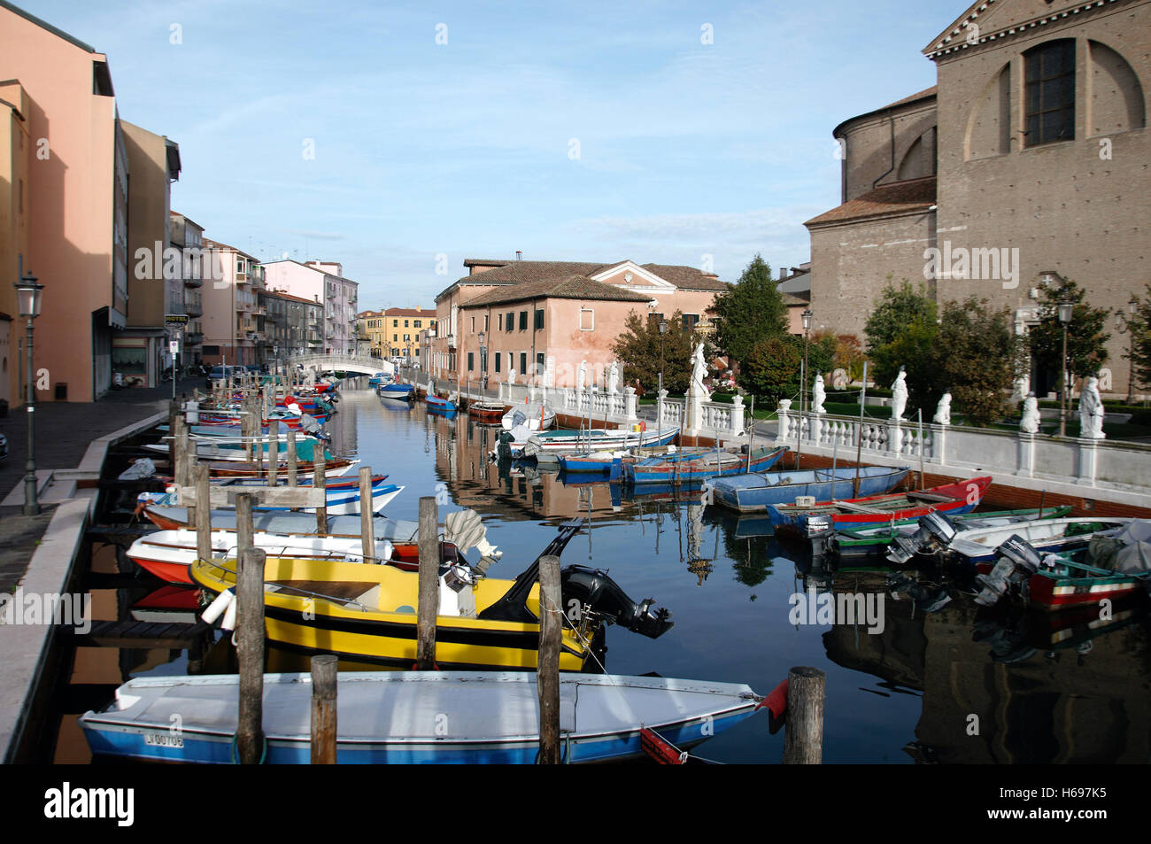 Chioggia island and fishing port 25 km south of Venice in the ...