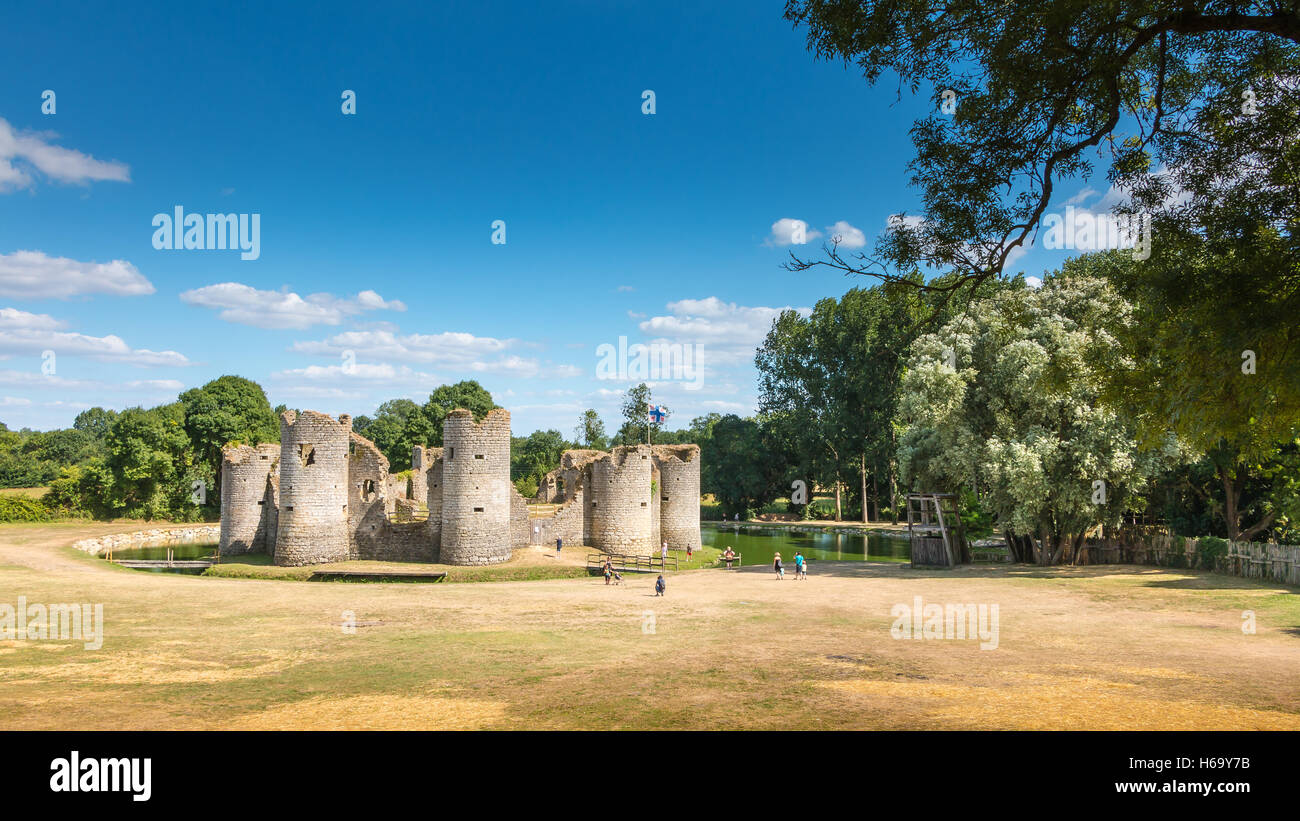 commequiers france august 09 2016 ruins of the medieval castle of commequiers france on days door open in summer 2016 a - Open Castle 2016