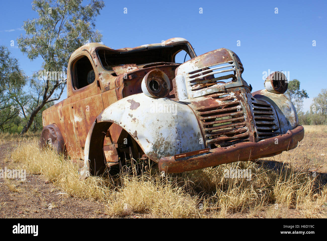 Rusty old car in outback Queensland, Australia Stock Photo ...