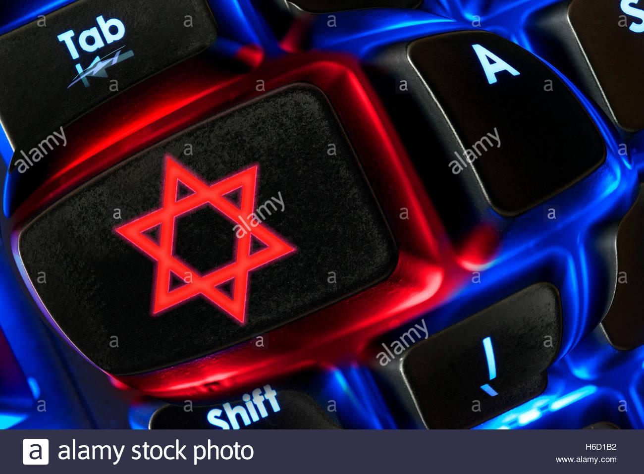 Star of david symbol shown on a backlit keyboard dorset england star of david symbol shown on a backlit keyboard dorset england uk buycottarizona