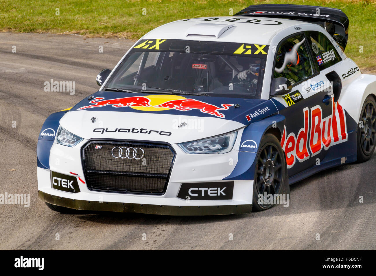 Audi S EKS RX Rallycross Car With Driver Andrew Jordan At - Audi car jordan