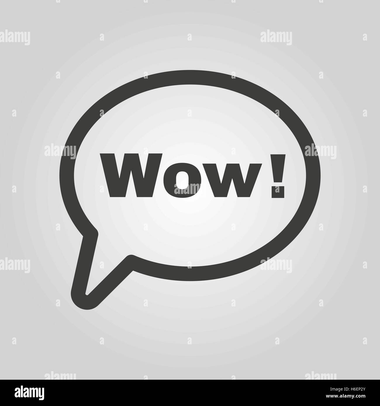 The speech bubble with the word wow icon internet and chat the speech bubble with the word wow icon internet and chat online symbol flat vector illustration buycottarizona