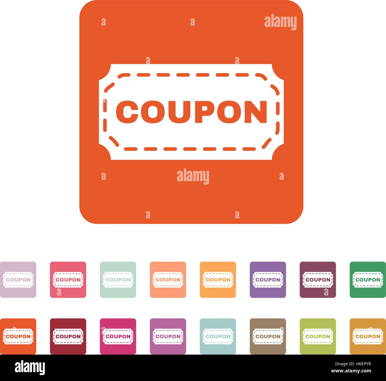 The coupon icon discount and gift offer symbol flat vector discount and gift offer symbol flat vector illustration button set buycottarizona Image collections