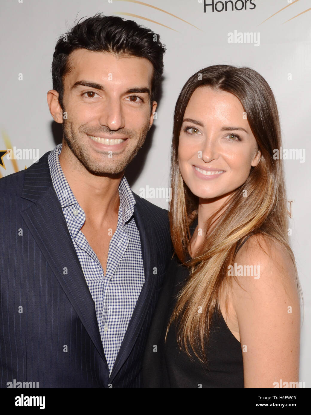 Justin Baldoni and Emily Foxler attends the Hollywood Walk ...