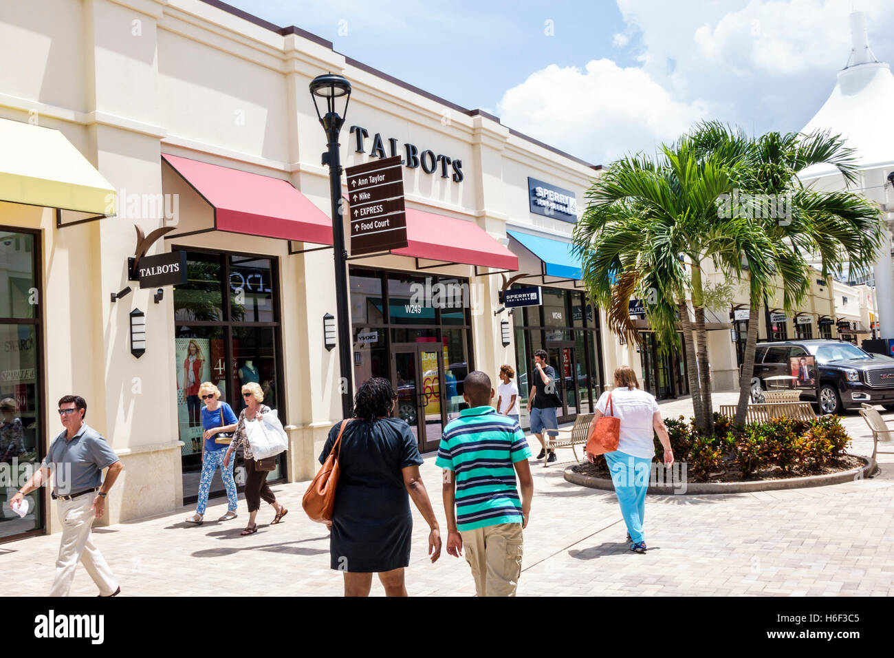 Palm Beach Florida Outlets Shopping Talbots Open Air Mall Stock Photo Royalty Free Image